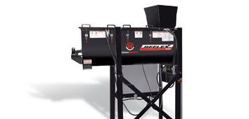 Reflex rubber mulch coloring machine