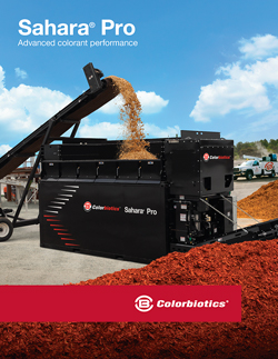 Cover of Sahara Pro mulch coloring equipment brochure
